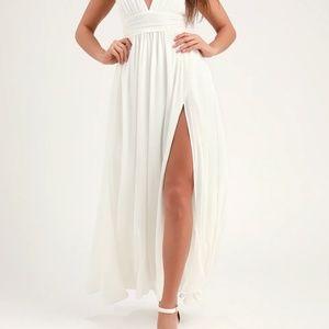 NWT Heavenly Hues White Maxi Dress